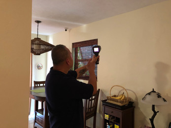 One of the tools we use during inspections is a thermal imaging camera. It helps detect moisture and