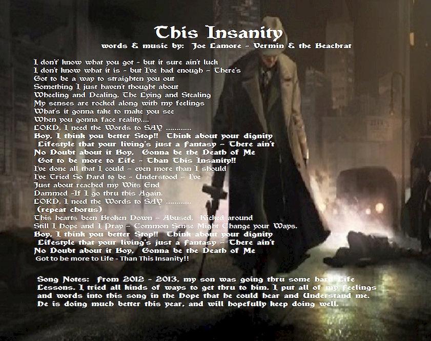 Insanity, rebel, song, art,