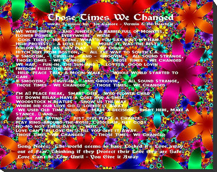 Flowers, lyrics, times gone by,