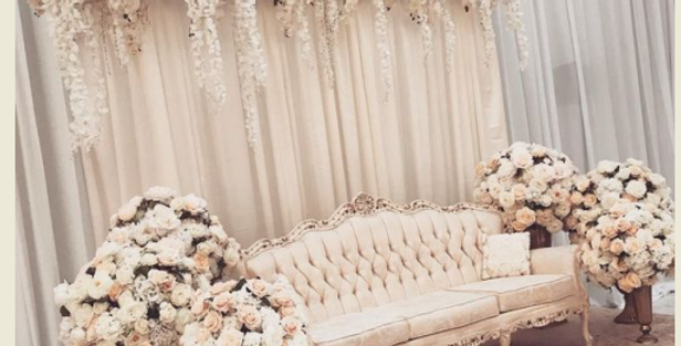 Drape & Flowers Backdrop