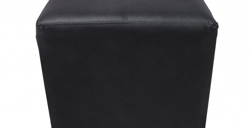 Malibu Black Leather Cube