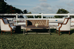 Gatsby Loveseat & Balmoral Distressed Table