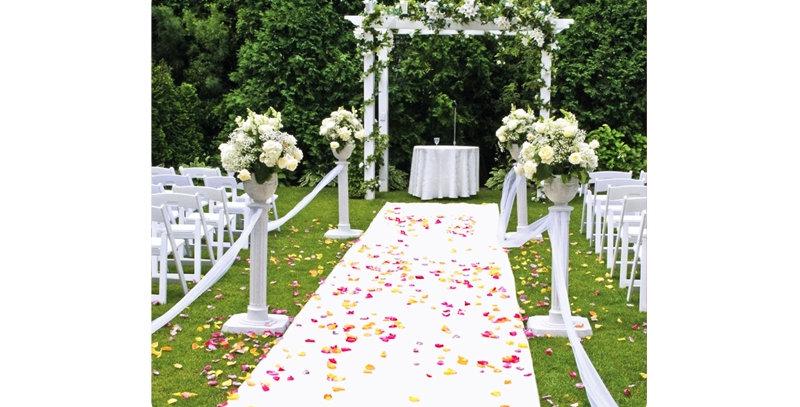 25 Ft White Wedding Runner