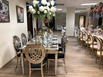 Diana Silver Chairs & Taylor Table