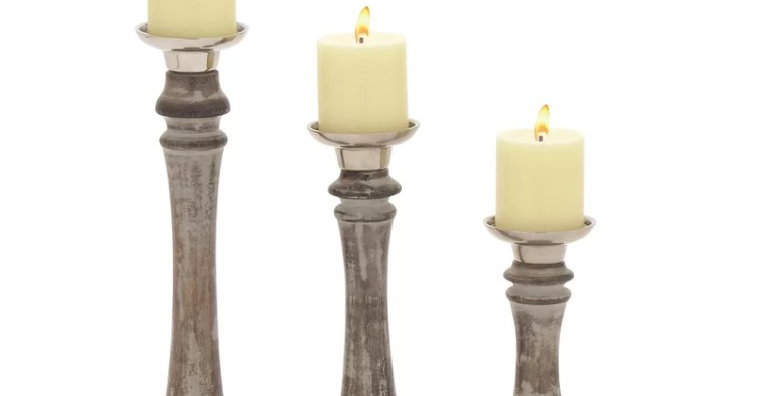 White Washed Candlesticks