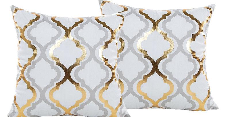 White & Gold Trebol-038