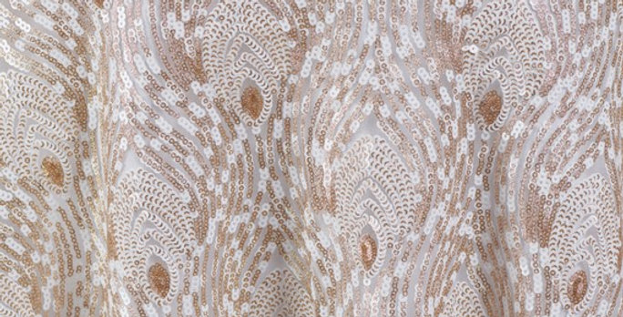White Peacock Sequins