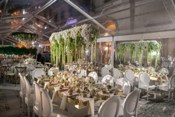White Elyse Chairs & Gold Tables