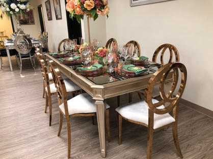 Anabelle Table & Camille Chairs
