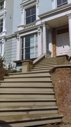 Dappled grey sandstone steps