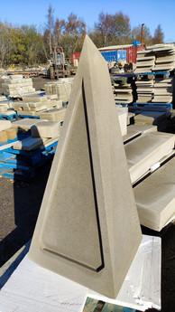 monumental yorkstone carving