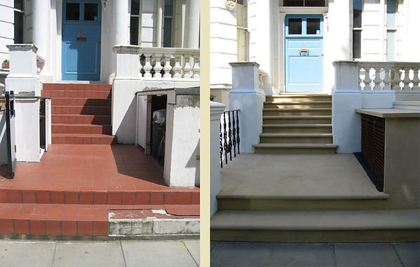 York Stone Steps Before After