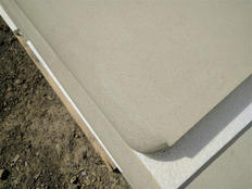 Bullnose step to stop