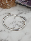Sterling silver Bangle with Clasp
