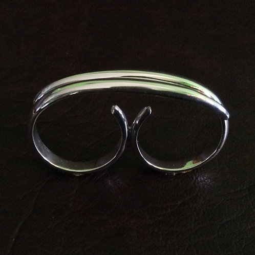 Sterling silver double rings wire works | RG667808
