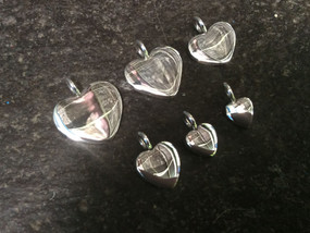Sterling silver dainty heart charms 5 x 5 x 2 mm | CH557226