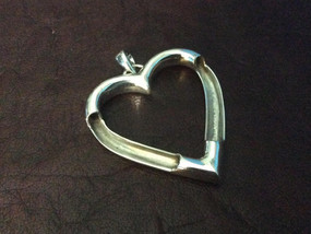 Sterling silver heart pendant charm 33 x 35 mm with 3.5 mm inside dia. - CH557194