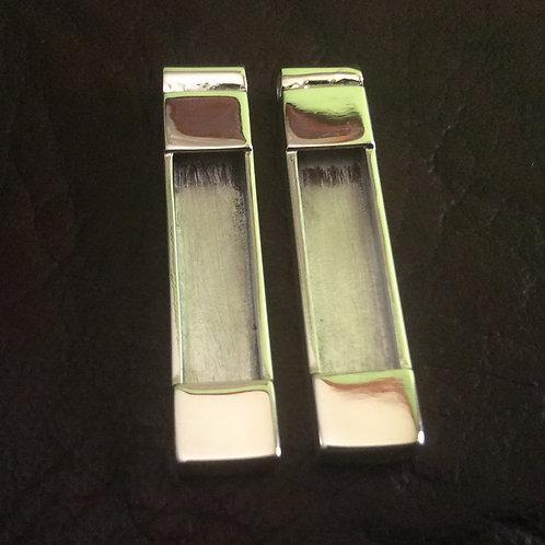 Sterling silver bar pendant 35 x 8.2 mm | CH557174