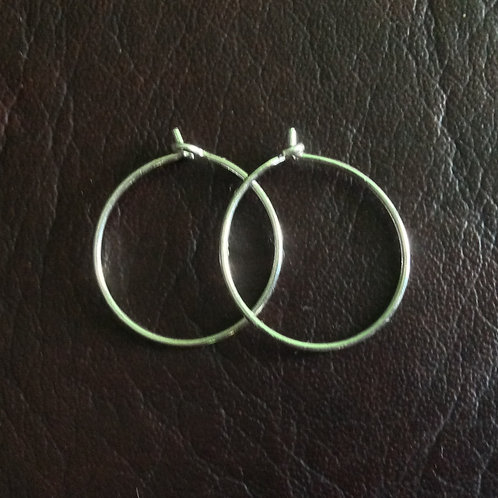 Sterling silver creole earwire 30 mm   EW889140
