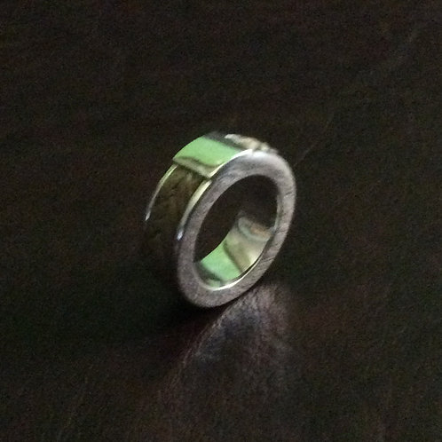 Sterling silver channel ring 5.0 x 3.0 mm x 8.0 mm | RG887808