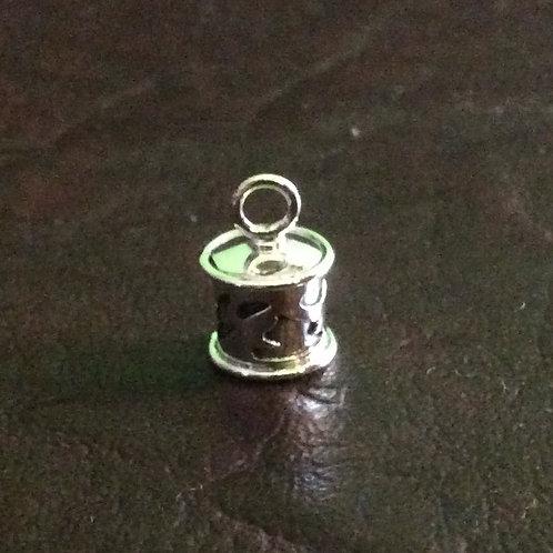 Sterling silver irregular cutting end cap 6.0 mm | EC998826