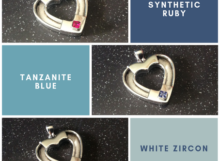 Sterling silver channel heart pendant 27.5 x 26.25 mm - CH557178