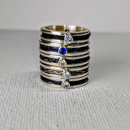 Sterling silver channel ring 2 x 1.5 x 4.0 mm | RG887817