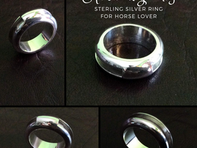 Silver channel ring round 3.1 x 2.5 mm x outside 7.75 mm with 10 mm closed silver - RG887818