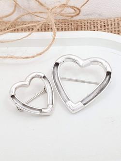 Sterling silver equestrian pin brooch