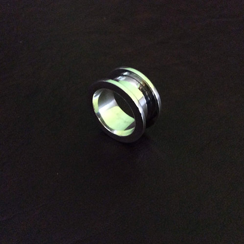 Sterling silver channel ring 7 x 2.5 mm x 2 mm | RG887820