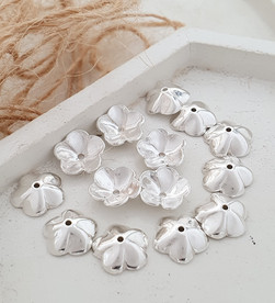 Sterling silver stacks flower beadcap 9.25 mm | BC229125