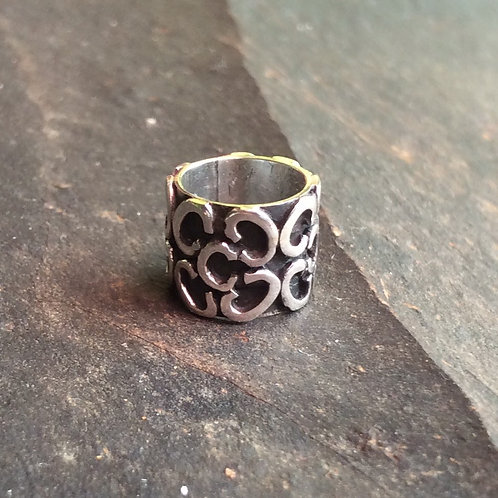 Sterling silver slider bead wire works 8 x 8 mm | SL878821