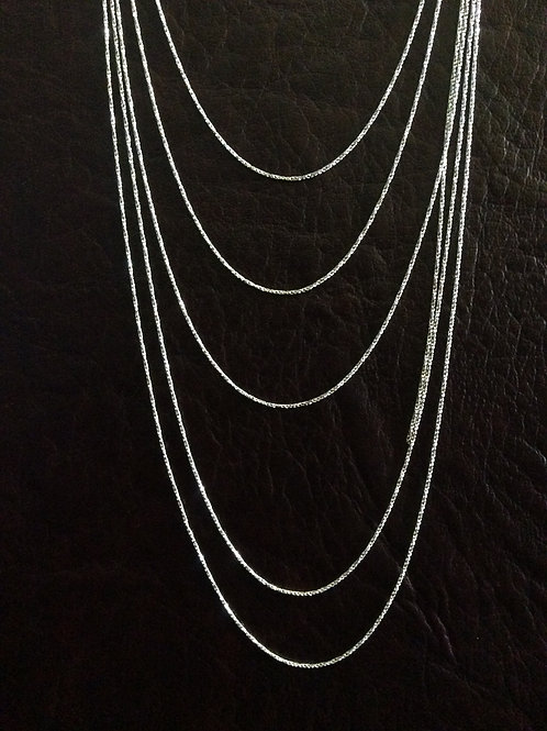 Sterling silver rope chain 0.95 mm | CH449904