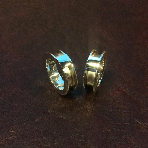 Sterling silver channel ring 4.0 x 2.5 mm x 6.0 mm | RG887810