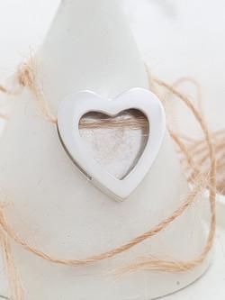 Sterling silver heart slider