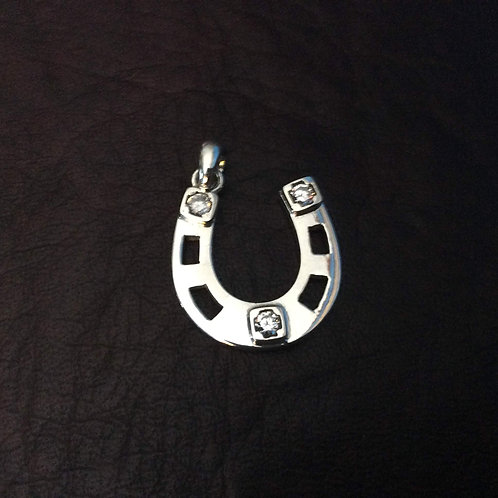 Sterling silver charm 21 x 21 x 1.75 mm with CZ | CH557191