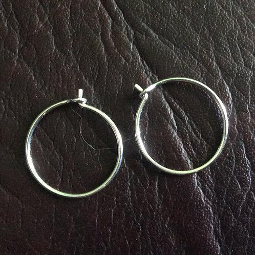 Sterling silver creole earwire 20 mm | EW889142