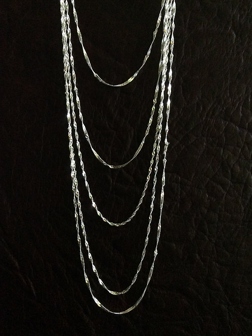 Sterling silver singapore chain 1.98 x 1.54 | CH449901