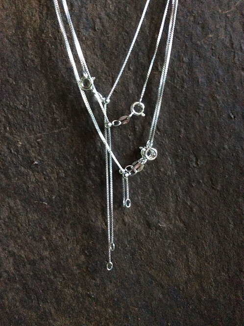 Sterling silver box chain necklace 0.90 mm - CH449921