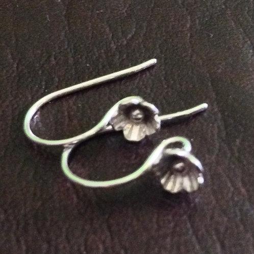 Sterling silver lotus earwire 20 mm | EW889136