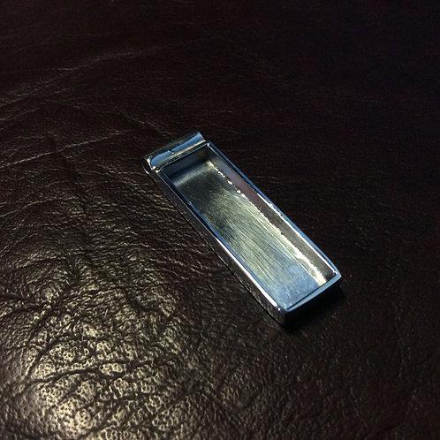 Sterling silver rectangular bezel pendant 30 x 10 mm | CH557202
