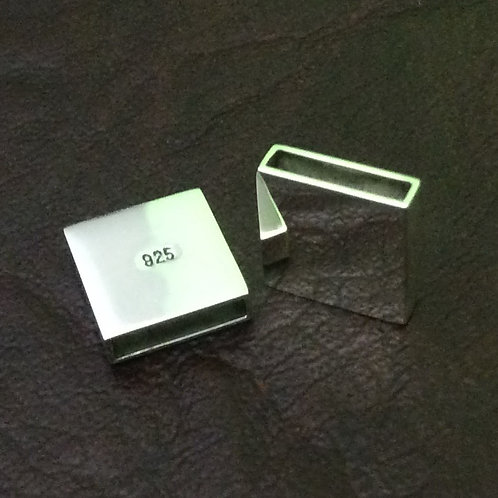 Sterling silver square slider 10 x 2 x 12 mm | SL878832