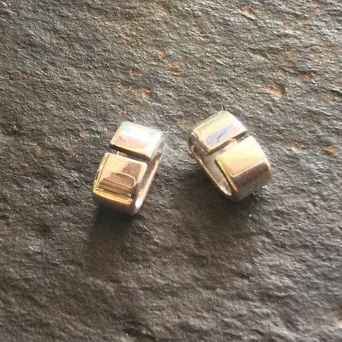 Sterling silver plain oval slider 6 x 6 x 3 mm | SL878820