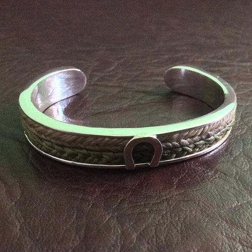 Sterling silver square channel cuff 60 x 45 x 10 mm | CUFF16