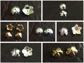 Sterling Silver Flower Beadcap