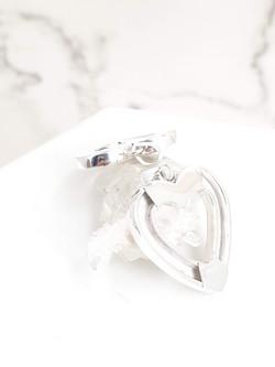 terling silver equestrian heart Charm