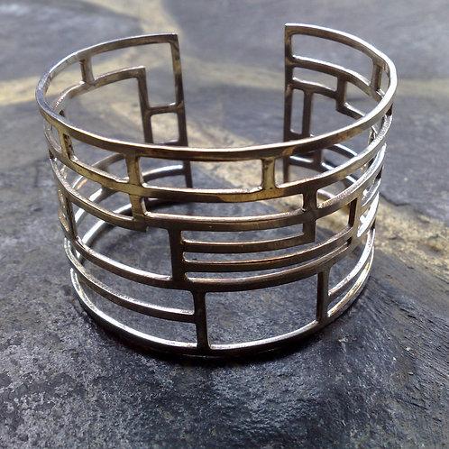 Sterling silver inspiration cuff 16 x 4 cm | CUFF05