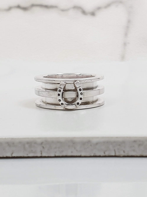 Sterling silver double channel ring 2.5 x 2.5 x 9.0 mm | RG887824