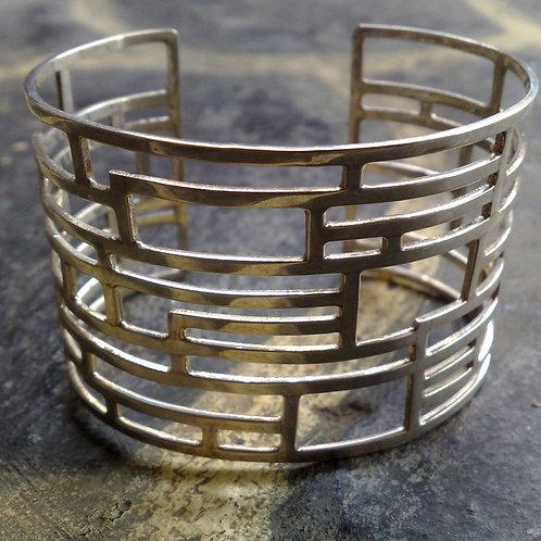 Sterling silver inspiration cuff 16 x 4.5 cm | CUFF01