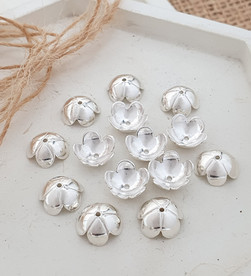 Sterling silver flower beadcap 10 mm | BC229124